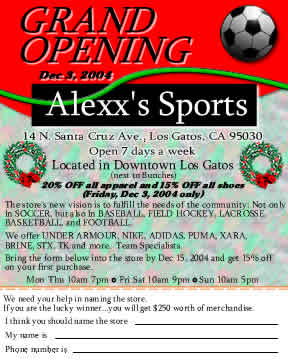 Soccer Store Grand Opening creative